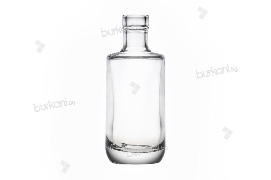 Стъклена елегантна бутилка за масла и напитки 200 мл