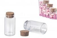 Малки стъклени шишета с коркова тапа 120 мл, с размер 47х90 (100-17)