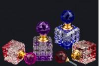 Кристална бутилка 8 мл с кристален капак и игла в 4 цвята