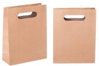 Кафява хартиена чанта, с размеи 190x80x240 mm
