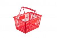 Пластмасова червена кошница  45x32x23 cm