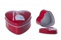 Червена алуминиева сватбена кутия Сърце
