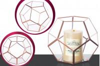 Стъклен декоративен свещник