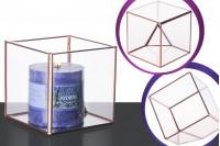 Квадратен стъклен декоративен свещник