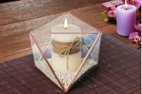 Декоративен стъклен свещник