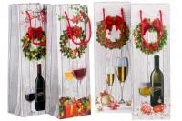 Коледни 3-D торбички за бутилки за вино