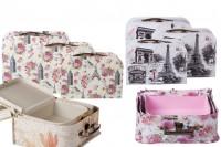 Кутии за подарък (куфарче) с метална дръжка и клипс в комплект от  3 броя
