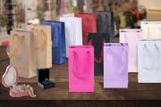 Хартиена подаръчна торбичка с дръжка в различни цветове