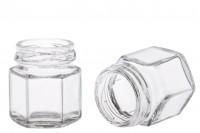 Стъклен шестоъгълен буркан 30 ml