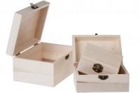 Дървени кутии в комплект от 3 бр. с размери  S-M-L