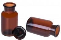 Стъклена кафява бутилка 250 мл със стъклена капачка