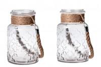 Стъклен декоративен буркан  3000 ml с дръжка без капачка, с размери 110x270 mm