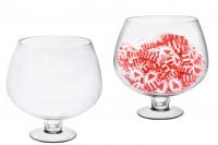 Декоративна голяма стъклена чаша
