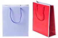 Хартиена подаръчна торбичка в 2 цвята с размери  200x80x240