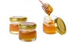 Малко бурканче за мед за сватба или кръщене 30 мл