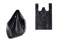 Пластмасови торбички черни с размери  26x40 cm