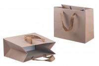 Крафт подаръчна чанта с дръжки с размери  220x100x180 мм