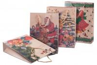 Коледни подаръчни торбички с размери  240x80x330