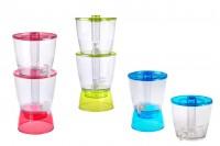 Пластмасов съд с канелки и вътрешна тръба за лед в 3 цвята - 13 литра