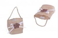 Торнбичка бонбониера за сватба с размери  62x44x70 mm