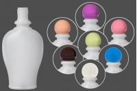 Пластмасова бутилка 250 мл с цветни капачки