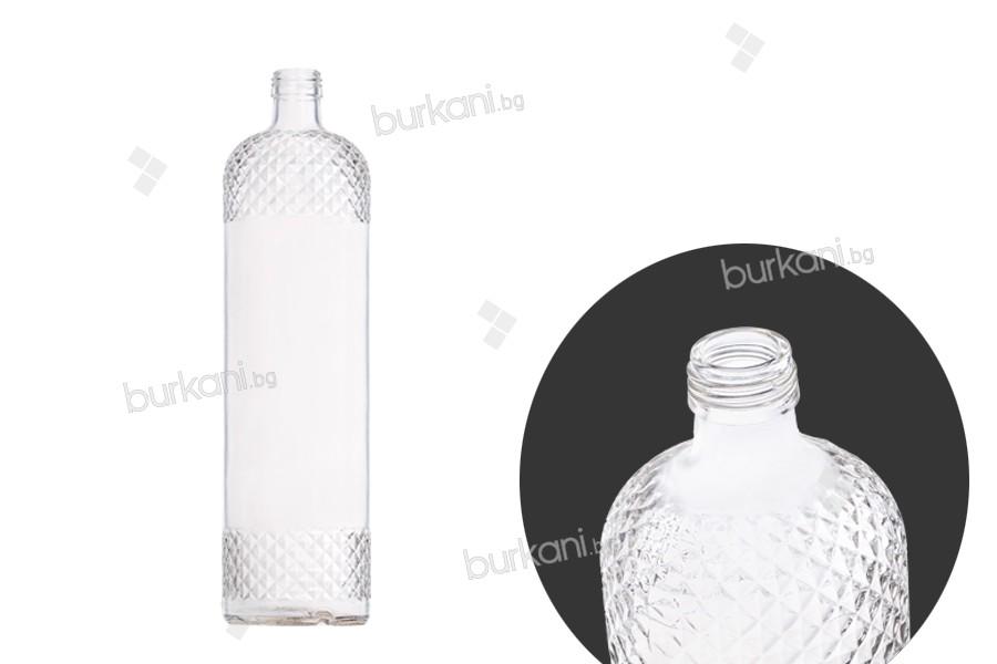 Стъклена бутилка 1000 мл за сокове или вода