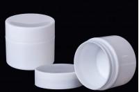 Пластмасов буркан за крем 50 мл бял с двойно дъно, в опаковка от 12 бр.