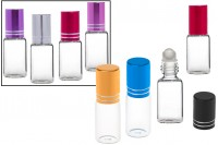 Glass roll-on bottle 5 ml in different colors