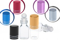 Glass roll-on bottle 3 ml in various colors