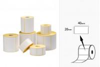 Термични етикети, хартия, самозалепващи се, с размер  40x20 мм -в ролка от  1000 бр