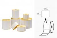 Термични етикети, хартия, самозалепващи се, в  ролка 100х80 мм - 1000 бр