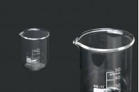 Стъклена цилиндрична разграфена чаша 50 мл