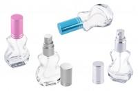 Стъклена бутилка за парфюм 10 мл с различни цветове капачки