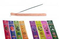 Комплект бамбукови пръчици на дървена основа в 4 аромата - лавандула, жасмин, роза, лайка)