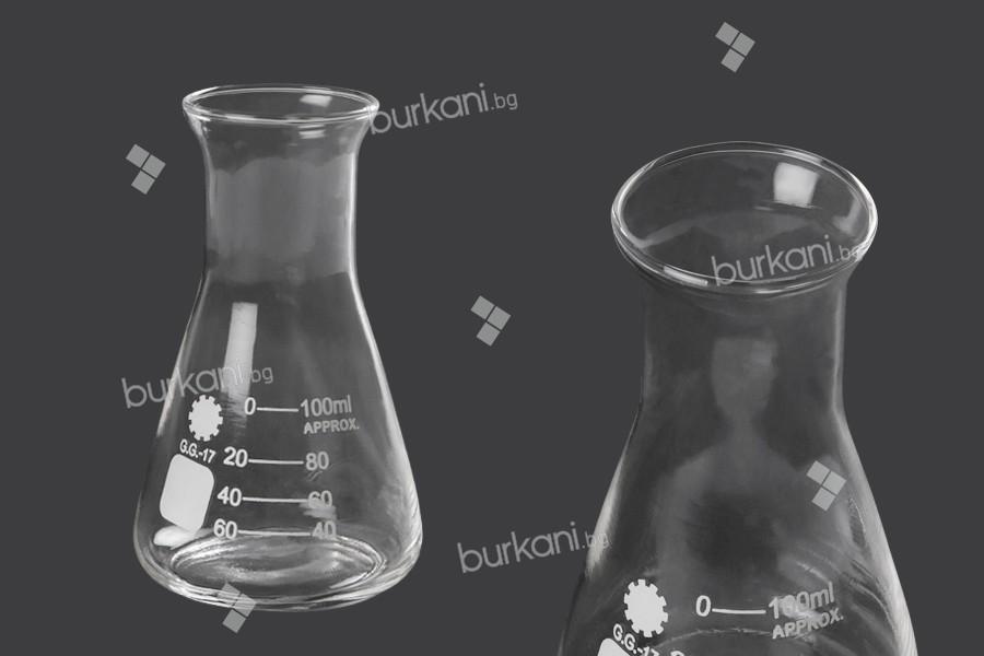 Стъклена (ерлермайерова) колба 100 мл