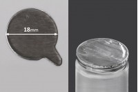 Самозалепващо се алуминиево уплътнение с размер  18 мм - 50 бр.