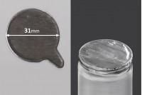 Самозалепващо се алуминиево уплътнение  31 мм - 32 бр.