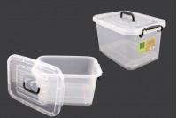 Пластмасова прозрачна кутия 410x280x220 mm, с капак с дръжка