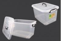 Пластмасова прозрачна кутия за съхранение 485x330x260 mm, с капак с дръжка