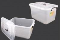Пластмасова прозрачна кутия за съхранение с размери  560x380x300 mm, с капак с дръжка