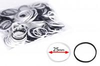 Черни и бели ластици 25 мм - 230 бр. на пакет