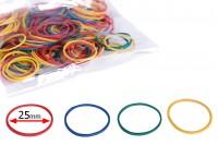 Декоративни цветни  ластици   25 мм - в 1 пакет се съдържат около 230 броя