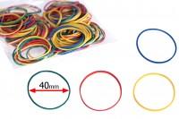 Цветни ластици 40 мм - 120 бр, в пакет