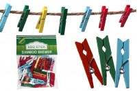 Пластмасови щипки  2,5 cm в различни цветове - 40 бр. на пакет