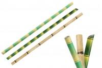 Хартиени зелени екологични сламки с размери  - 25 бр./пакет