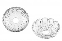 Стъклена плоча с дупка  (2,6 см) за свещници и полилеи