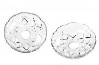 Стъклена плоча с дупка (2,6 см) за свещници и полилеи (337-6)