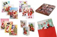 Коледни поздравителни картички - 120 бр (различни дизайни)