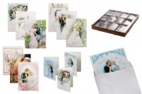 Сватбени поздравителни картички - 120 бр (различни дизайни)