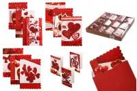 Поздравителни картички (любовни)  - 120 бр./пакет